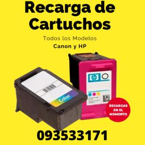 RECARGA DE CARTUCHOS canon y hp